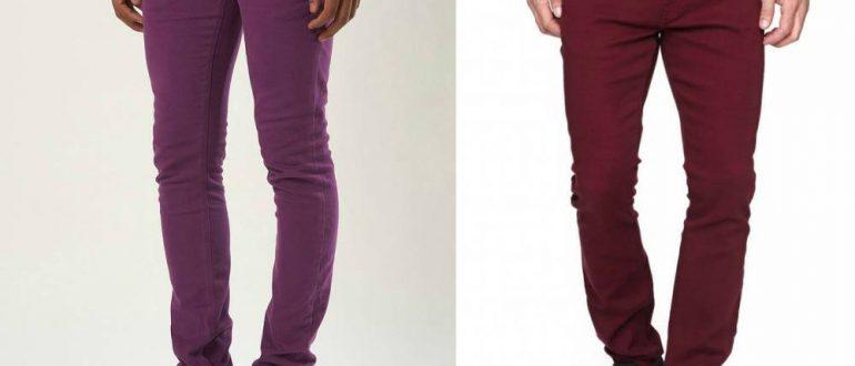 Цветовая палитра зауженных джинсов