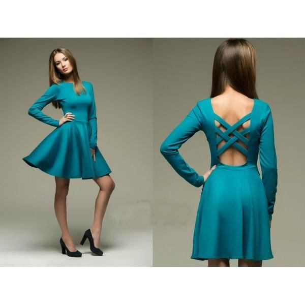 Темно-бирюзовые платья для девушек