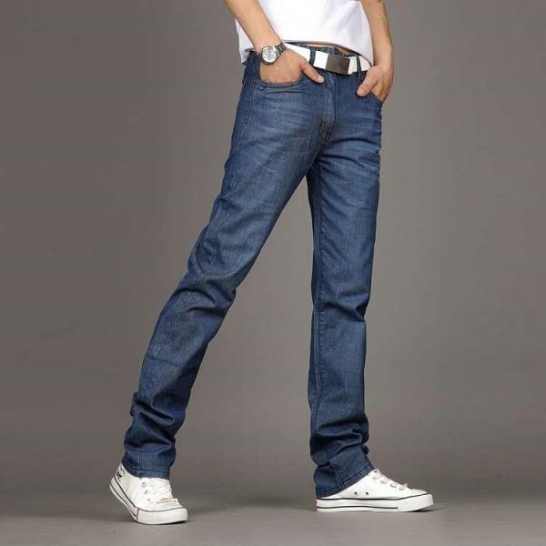 Темно-синие современные штаны