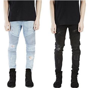 Темный и светлый оттенок джинсов скинни