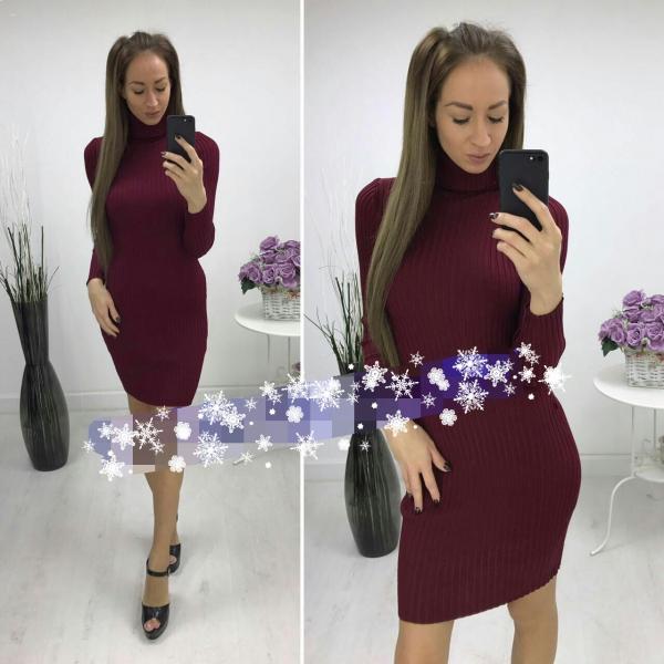 Теплое платье на осень