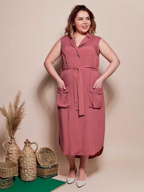 Терракотовый цвет платья