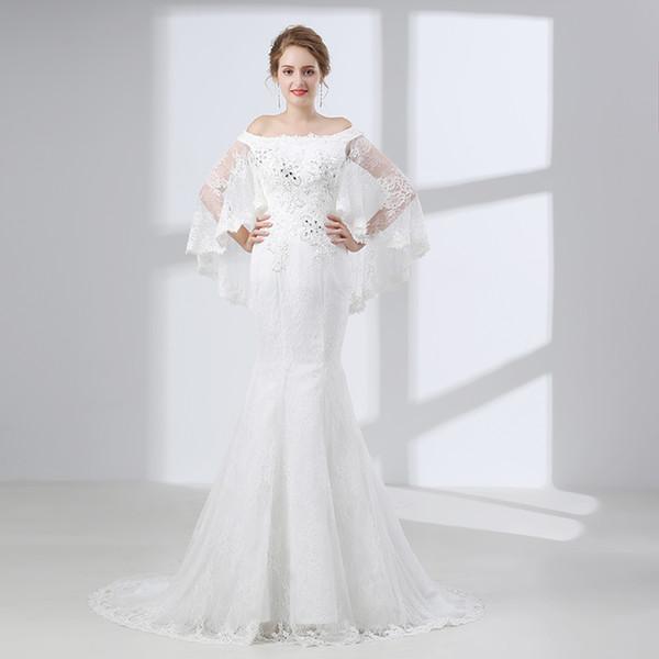 Тип платья для свадьбы русалка
