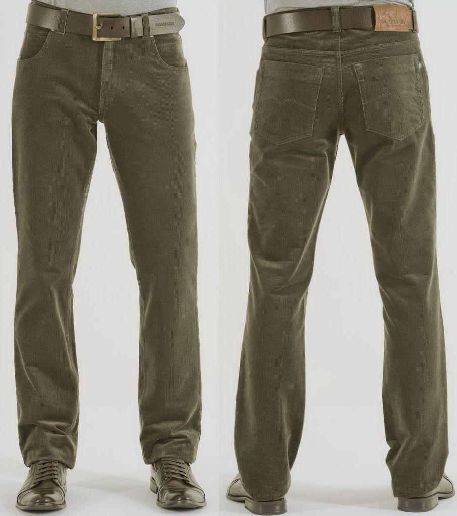 Удобные брюки из вельвета