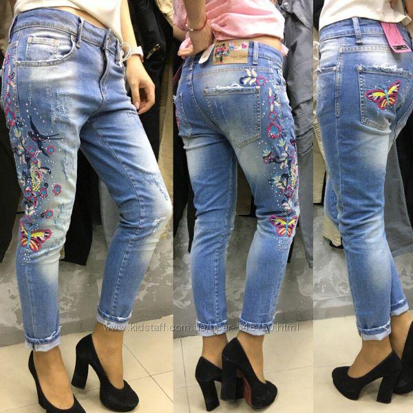 Укороченные современные штаны