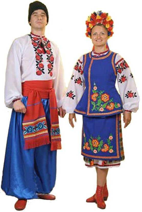 Украина в народных костюмах