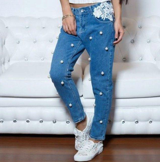 Украшаем джинсы правильно