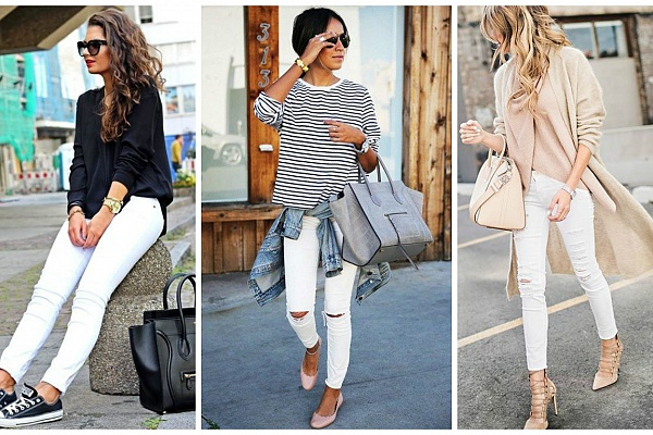 Универсальность белых джинсов
