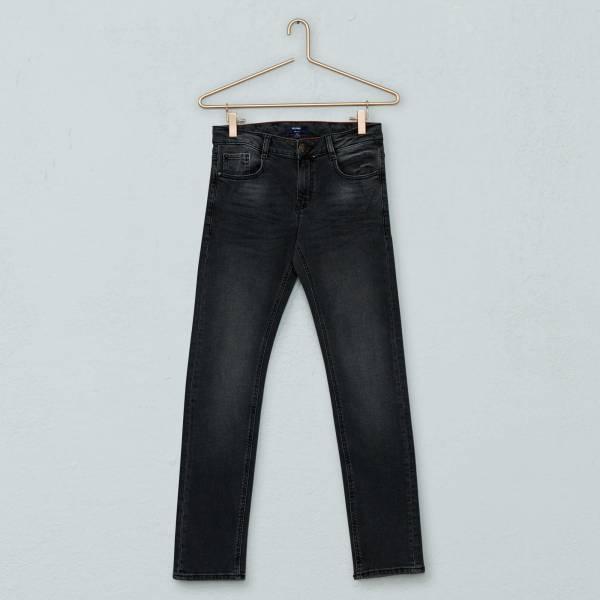 Узкие джинсы с эффектом потертости