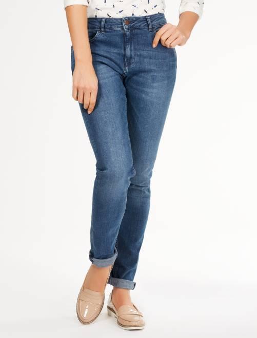 Узкие джинсы с очень высокой посадкой