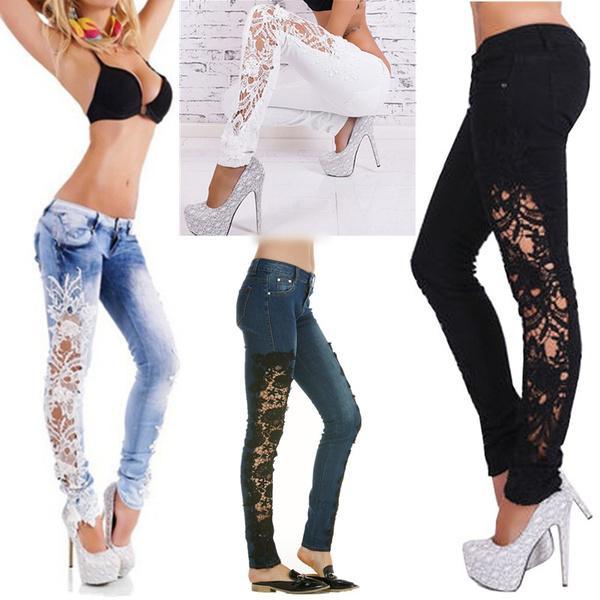 Узоры на штанах для девушки