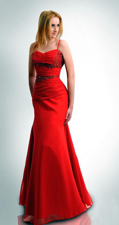 Вечерние и свадебные платья красного цвета