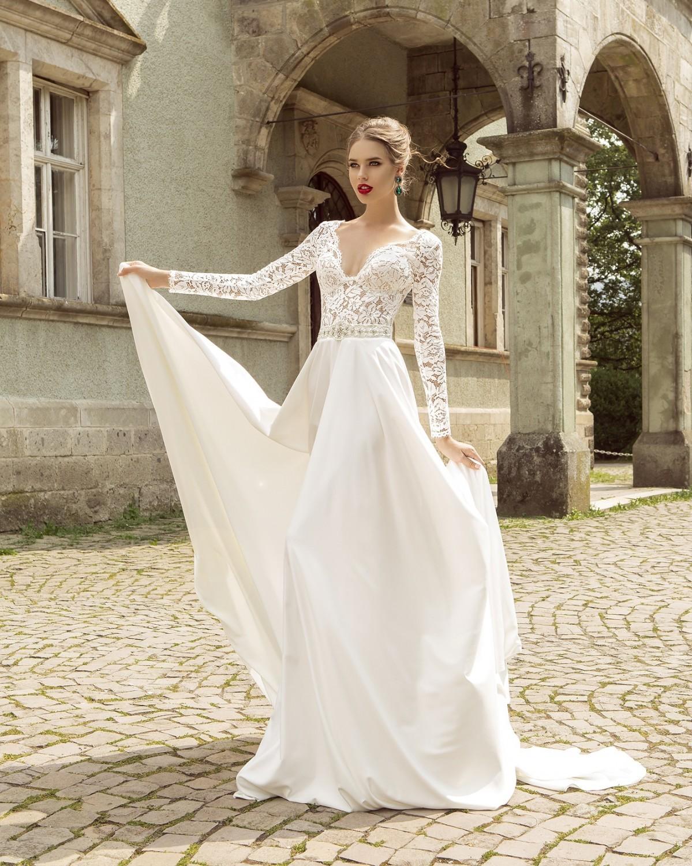 Виды рукавов свадебных платьев