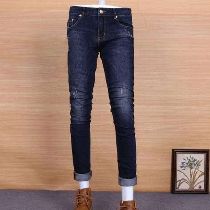 Выбираем джинсы узкие темно-синие зауженные