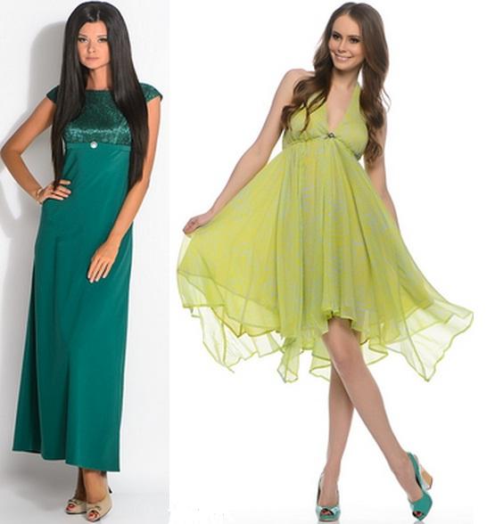 Выбираем обувь под зеленое платье