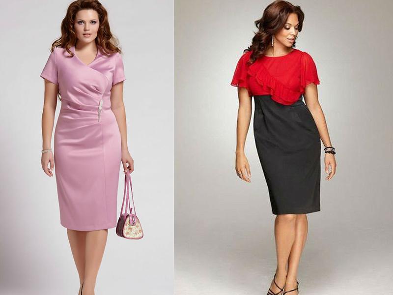 Выбираем платье-футляр для полных