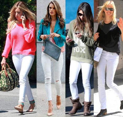 Выбор обуви с белыми джинсами