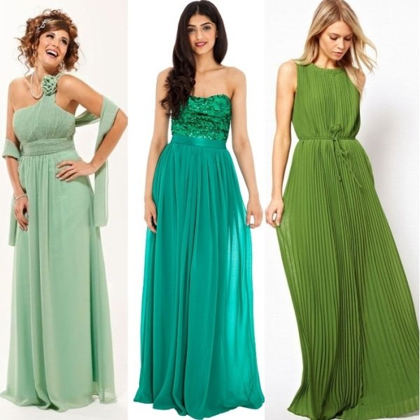 Яркие оттенки платья