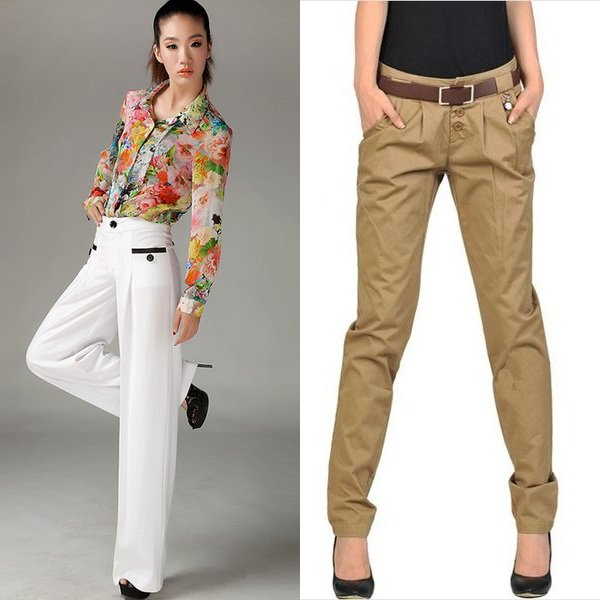 Яркие оттенки штанов