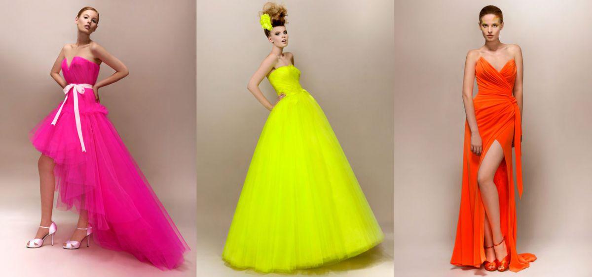 Яркие свадебные платья