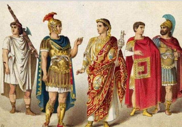 Яркий костюм древнего рима
