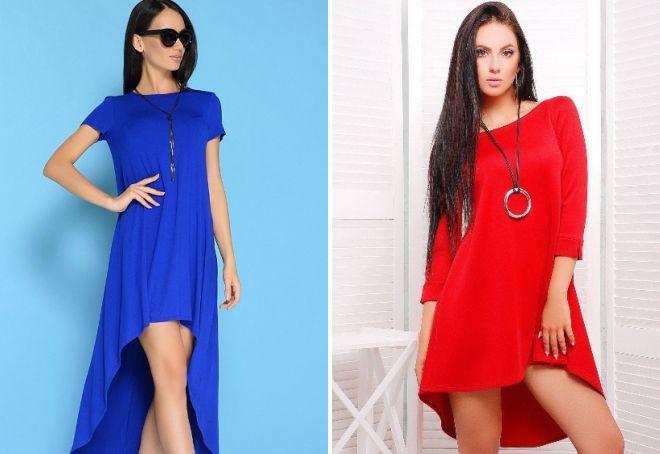 YArkoe-asimmetrichnoe-plate-trapetsiya Платье трапеция, какие модели в моде и с чем его лучше носить