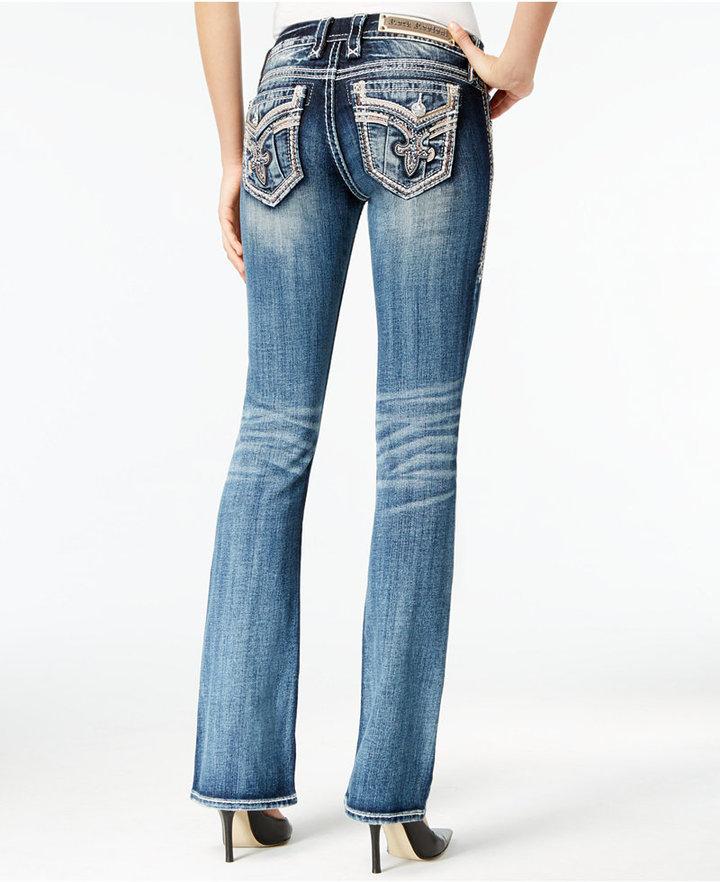 Женские синие джинсы с вышивкой