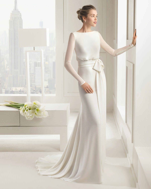 Закрытое платье для невесты