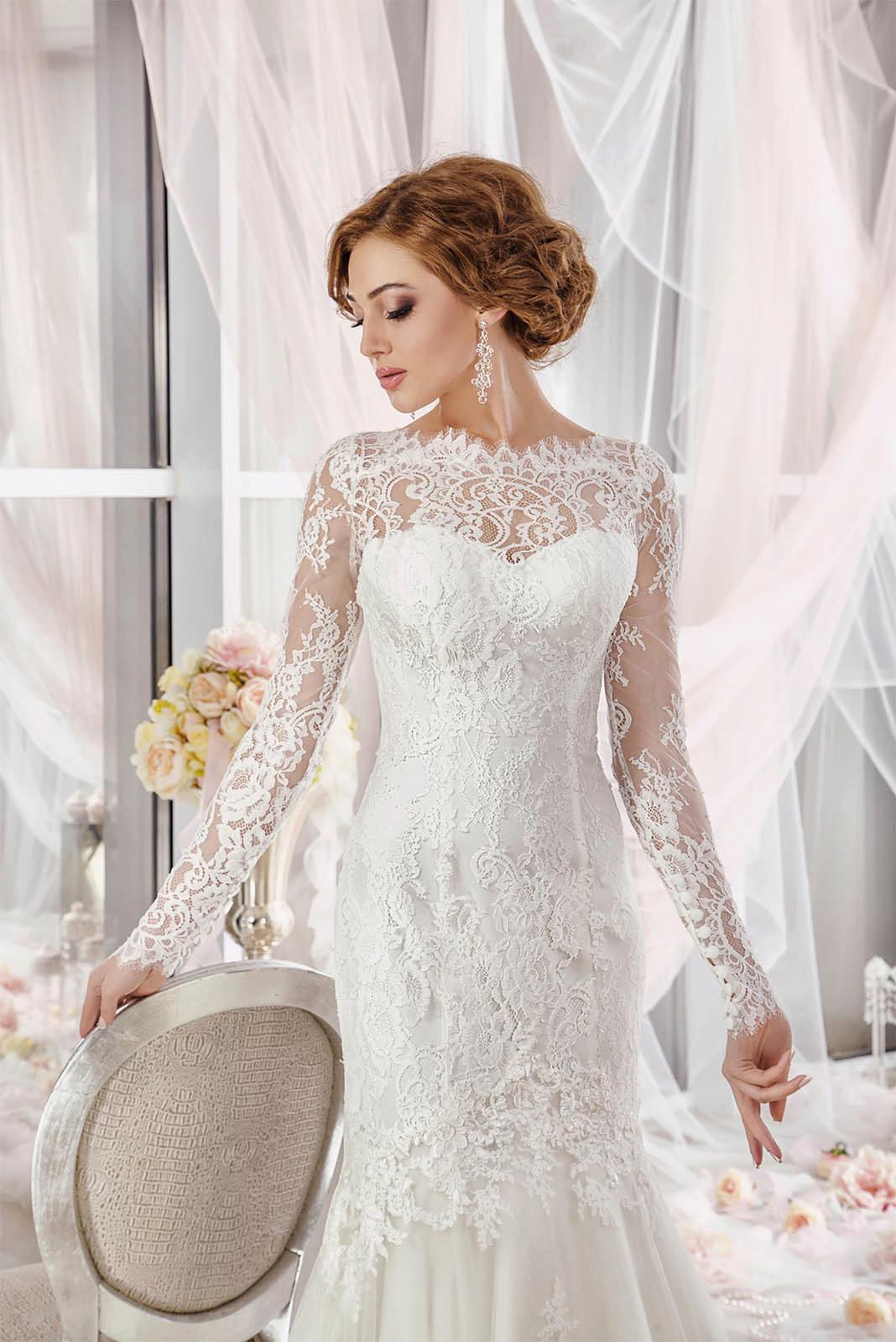 Закрытые свадебные платья с закрытыми плечами