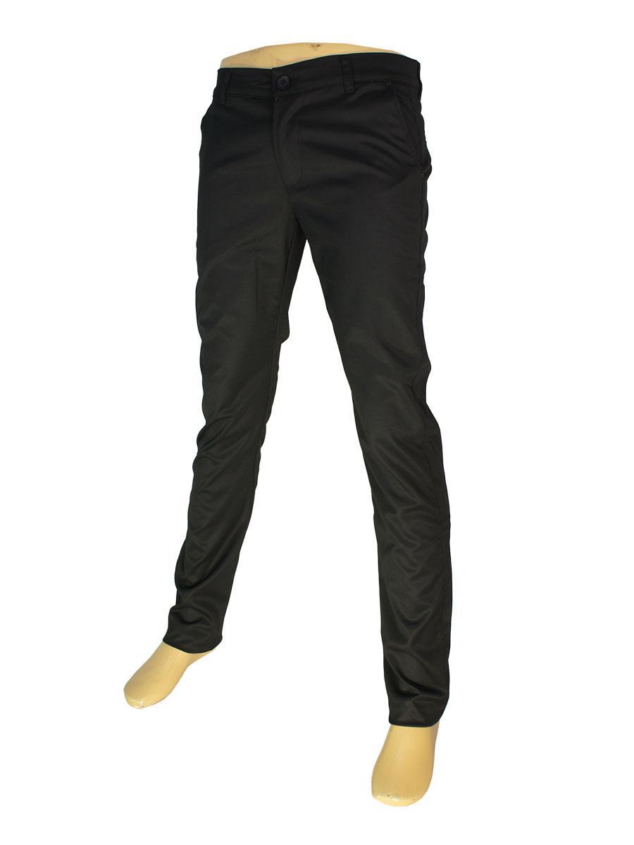 Зауженные мужские джинсы черного цвета