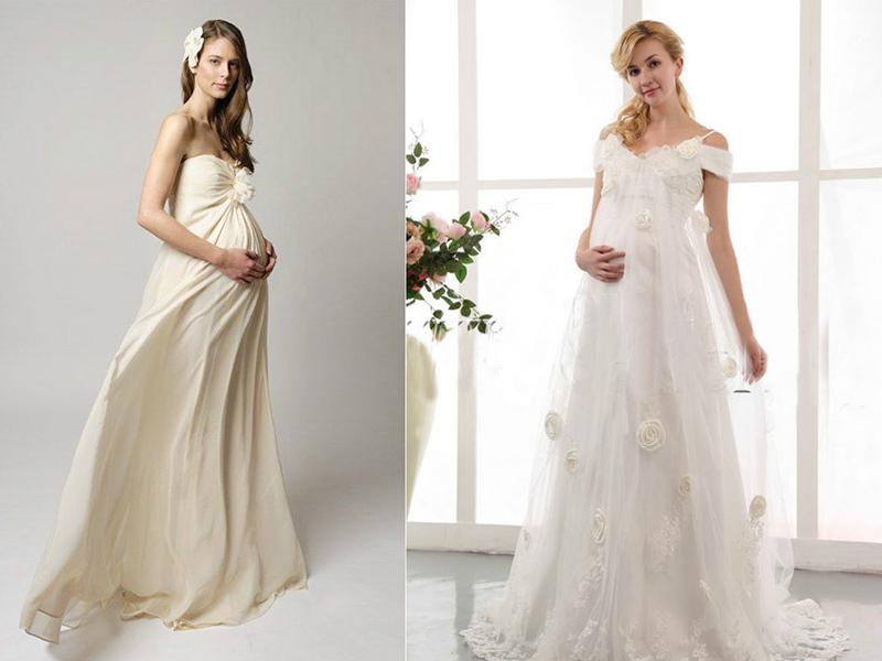 Завышенная талия платья для беременной