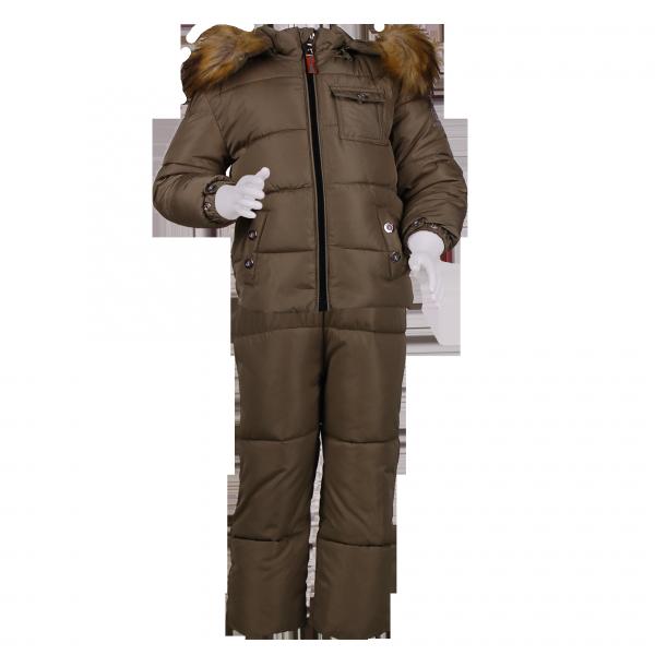 Зимний костюм коричневого цвета