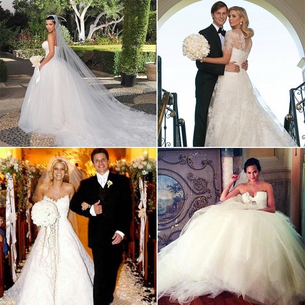 Знаменитости в свадебных платьях