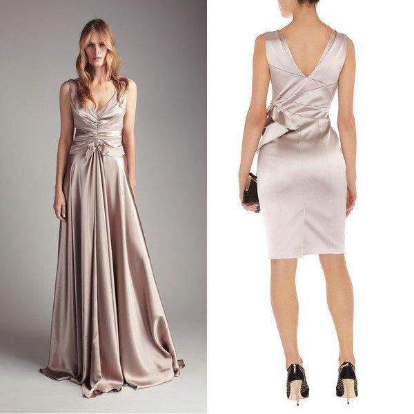 Атласное красивое платье