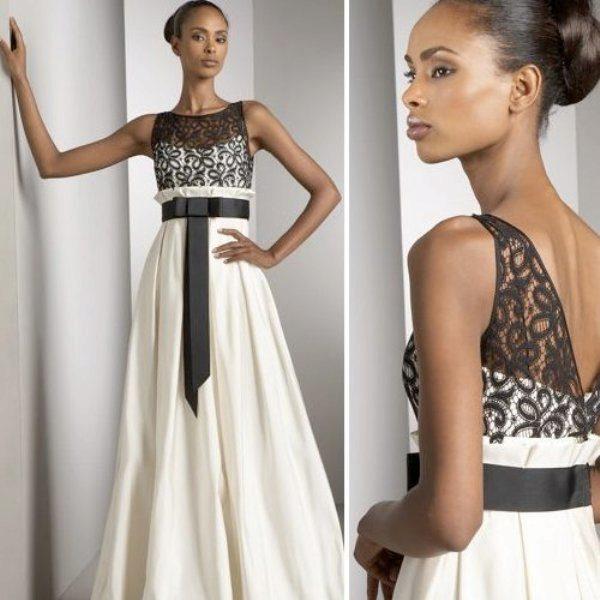 Атласные элементы на платье