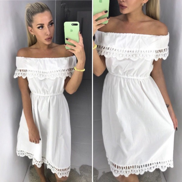 Белое красивое платье