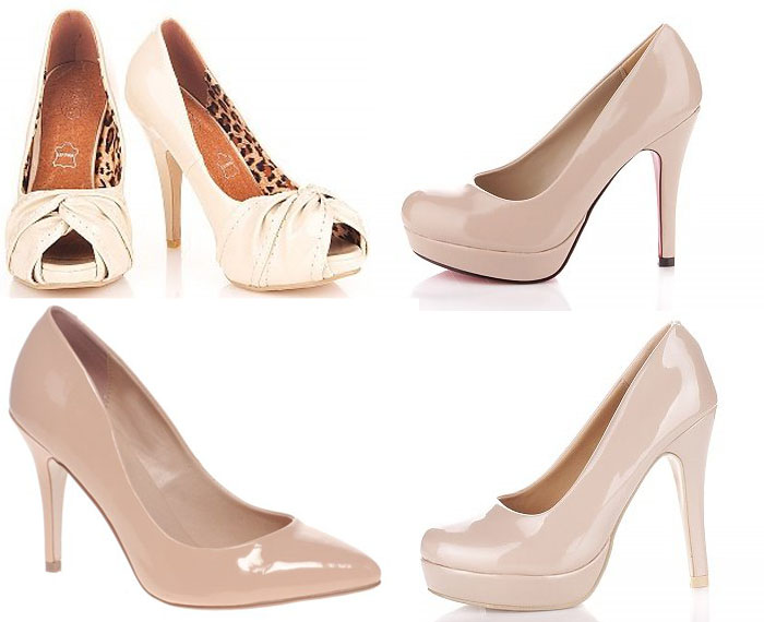 Бежевый цвет обуви