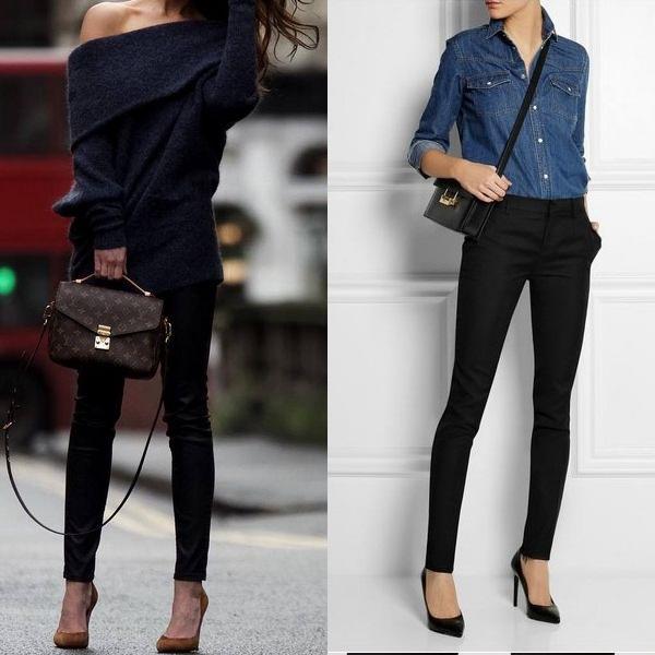 Черный цвет одежды для осени