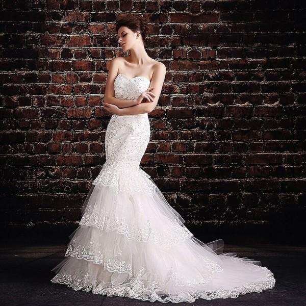 Для невесты с ажурными элементами
