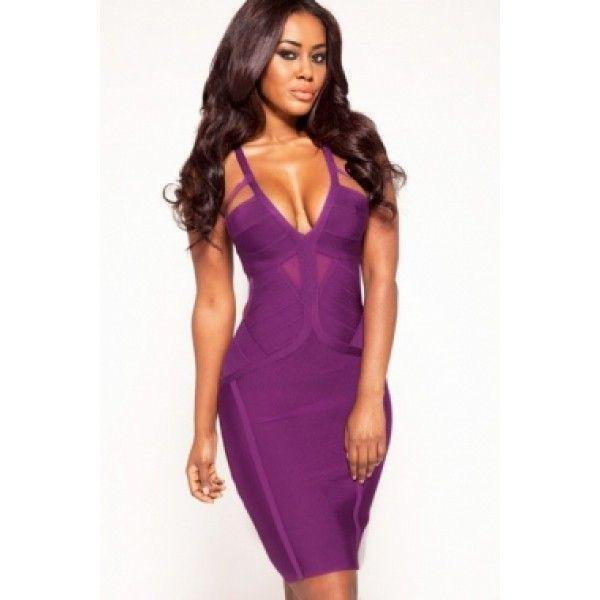 Элегантное фиолетовое платье