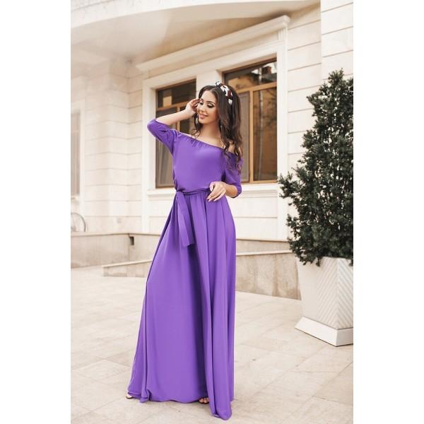 Фиолетовое платье не просвечивает