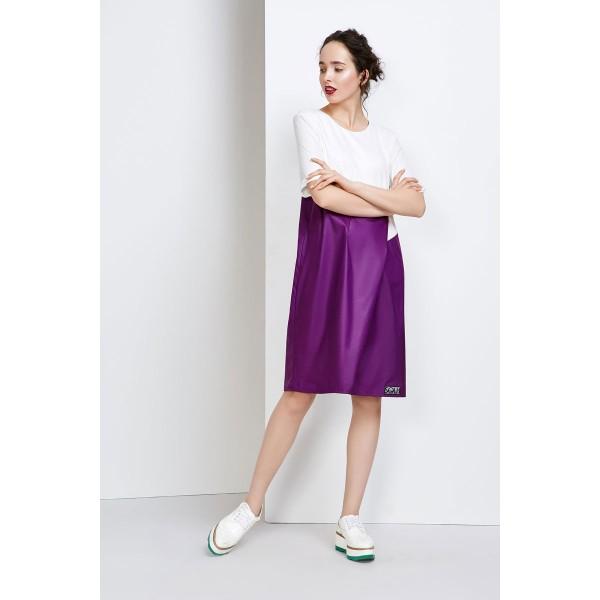 Фиолетовое с карманами