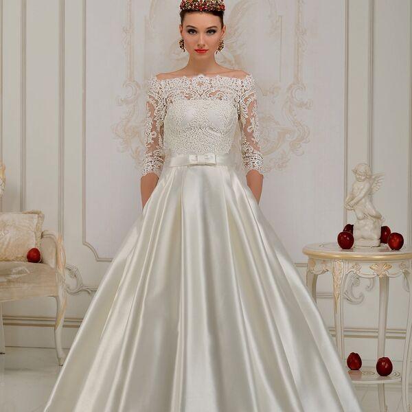 f4f9d1ad401fd5c Атласное свадебное платье, с чем надеть и пойдет ли оно беременным