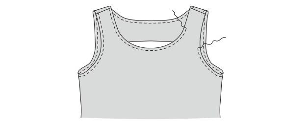 Горловина платья футляр