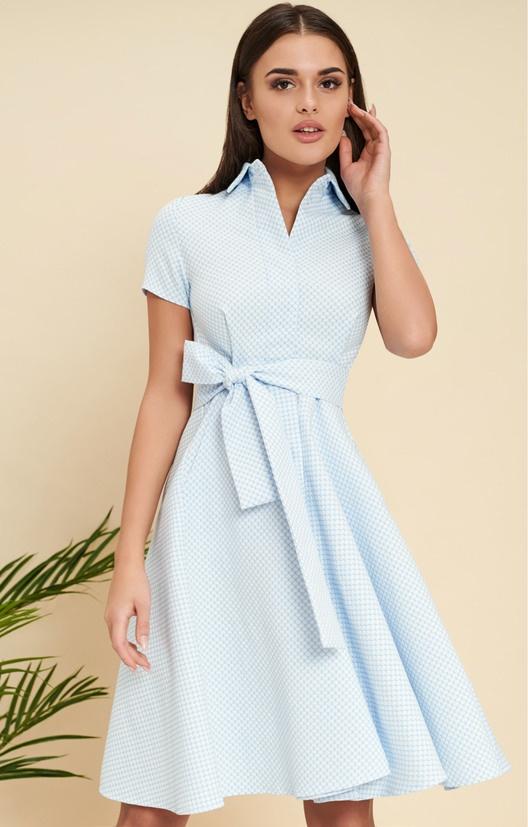 Хлопковое платье-рубашка в стиле ретро