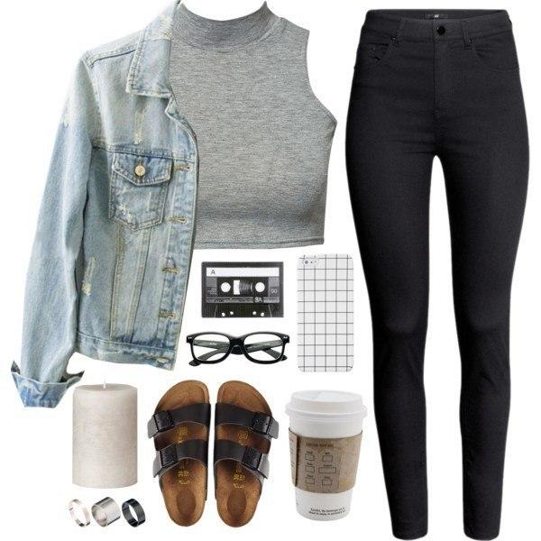 Как правильно носить черные джинсы