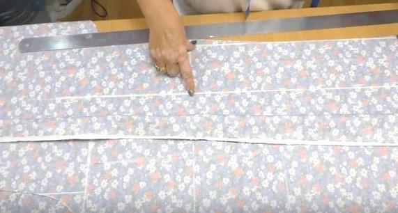 Как сделать Как сделать прокладку линии центра переда и отметить ширину запАха