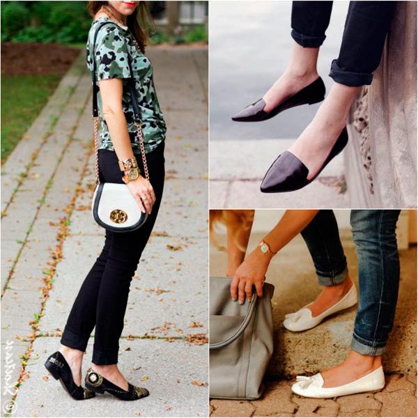 Какие туфли носить с джинсами