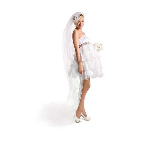 Короткий фасон свадебного платья