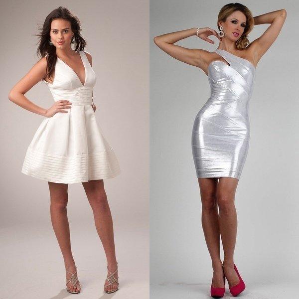 Короткое платье для свадьбы